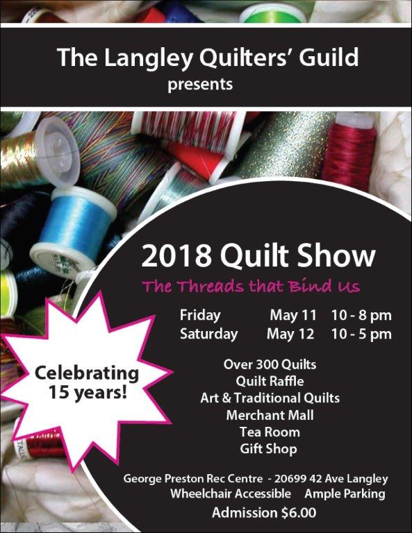The Langley Quilters' Guild Quilt Show – Tom's Sewing Newsletter