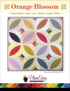 PlumEasy Orange Blossom Quilt Pattern