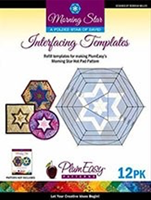 PlumEasy Morning Star Interfacing Template REFILLS - 12-pk